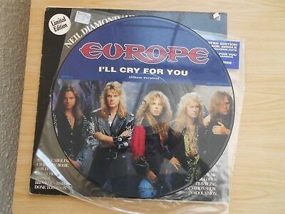 """Europe=I'll Cry For You (Picture Disc 12"""" Single)  Ex+"""