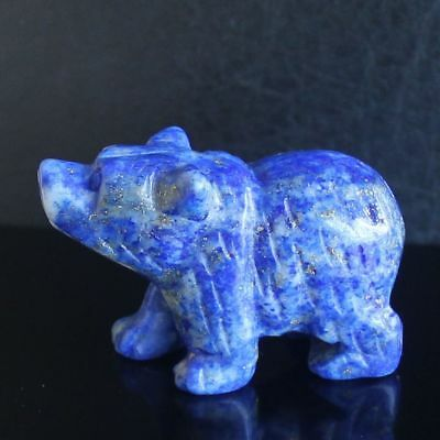 h36563  41mm Hand carved natural lapis bear figurine animal carving