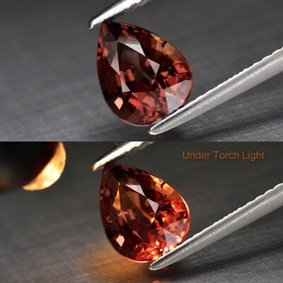 2.03ct 8.6x6.5mm Pear Natural Unheated Color Change Garnet, Africa