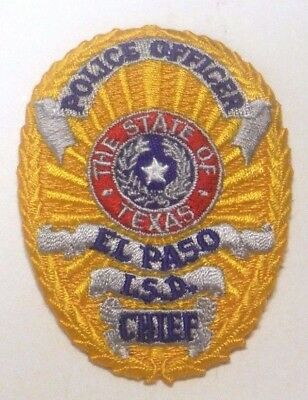 El Paso Texas Isd Police Hat Vest Patch Unused Independent School Dist