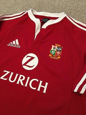 Rare Worn Once British Lions New Zealand 2005 Zurich Adidas Regby Shirt L Large