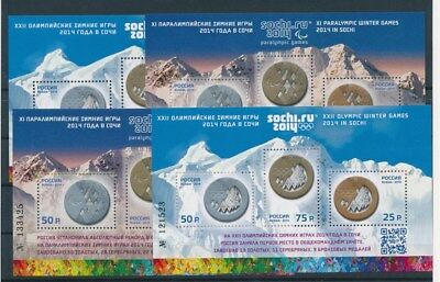 [G94070] Russia 2014 Olympics 4 good sheets Very Fine MNH