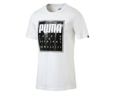 Puma Men's Brand Slogan Tee - White