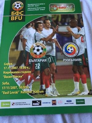 Bulgaria V Romania 17th November 2007 Euro 2008 Qualifier