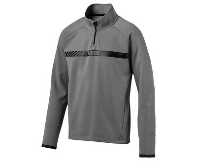 Puma Men's Active Tec Stretch Half-Zip Sweater - Grey Heather