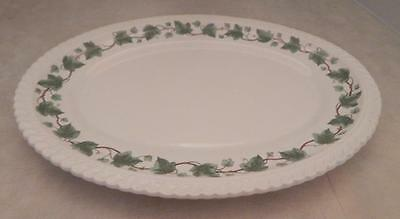 "Royal Gadroon HARKER POTTERY 13 1/2"" x 10""  Green Ivy PLATTER"