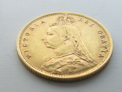 Victoria 1893 Jubilee Head Gold half Sovereign, Shield Back.