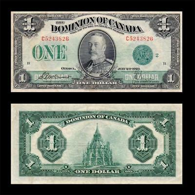 1923 Dominion Of Canada (Kg V), $1 Large » Cv $500 « ~Green Seal~ X. Rare