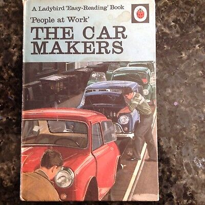 Ladybird People At Work The Car Worker Book 15p 606B Vintage Reading