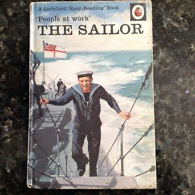 Ladybird People The Sailor  Book 24p 606B Vintage Reading