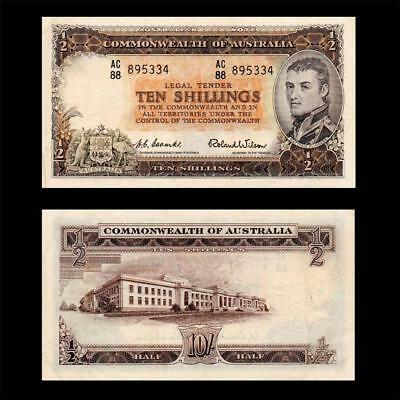 1954 Australia British, 10 Shillings - » Cv $250« ~Rare Earlier Issue~