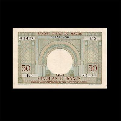 1949 Morocco French France, 5 Francs - » Best Note «