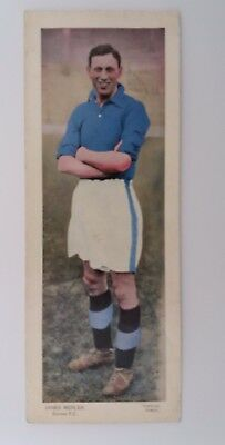 TOPICAL TIMES LARGE COLOUR 1930s PHOTO ~ EVERTON F.C. ~ JAMES MERCER ~