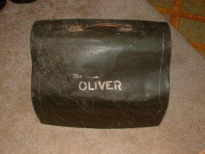 Antique Oliver Typewriter Metal Case  the oliver metal case cover