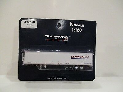 Trainworx N Scale - 53' Trailer - Clipper - New