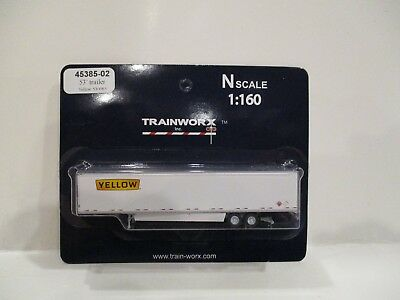 Trainworx N Scale - 53' Trailer - Yellow - New