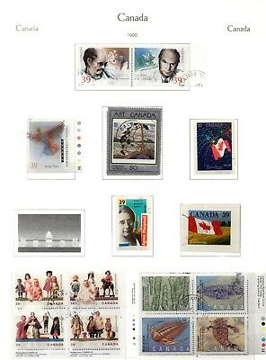 Canada - Used Collection on 8 Album pages x 250(+) stamps