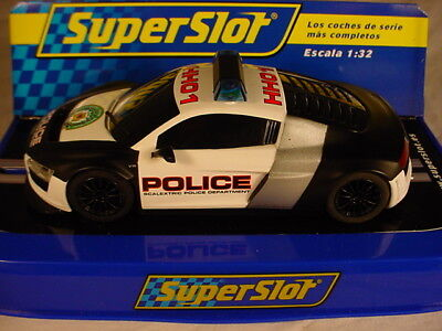 Scalextric Superslot Audi R8 Police Car HH01 Lights Siren C3457 MB DPR