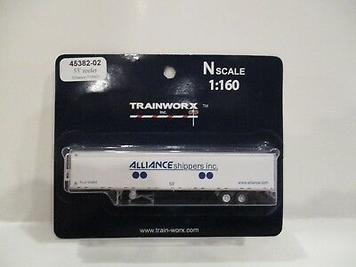 Trainworx N Scale - 53' Trailer - Alliance Shippers Inc - New