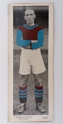 TOPICAL TIMES LARGE COLOUR 1930s PHOTO ~ ASTON VILLA ~ FREDERICK HAYCOCK