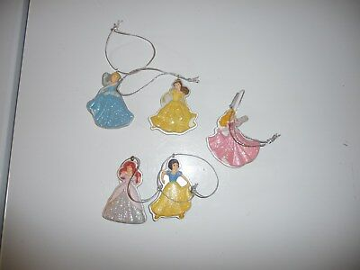 Lot Of 5 Disney Princes Holiday Christmas Ornaments