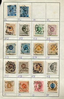SWEDEN Early used COLLECTION on pages 190 Stamps