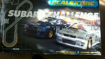 large scalextric subaru challenge set