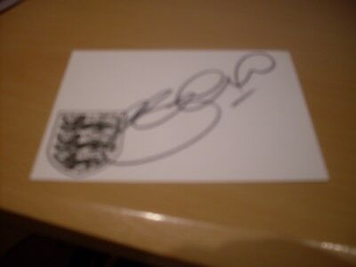 signed card of ex liverpool and england footballer steven gerrard