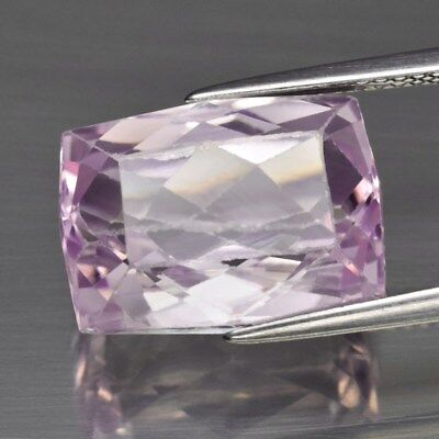 10.85ct 14.3x10.7mm Antique-Cut Natural Untreated Pink Kunzite, Twinkling!