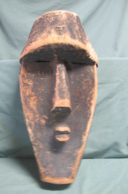 Antique 19-20Thc African  Carved Wood Dance Mask