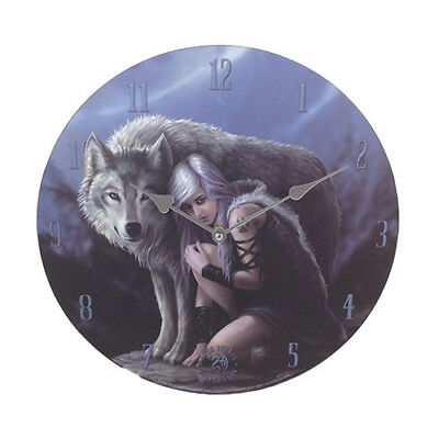 PROTECTOR Anne Stokes Wolf Fairy Wall Clock fantasy art wolves faery faerie