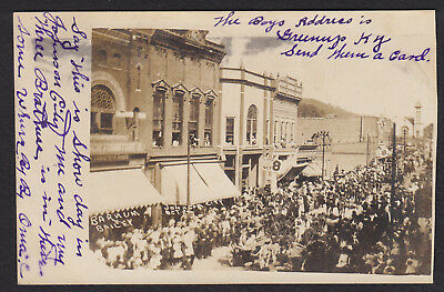 Johnson City-Tennessee-Barnum Bailey Circus-Main Street View-Photo Postcard