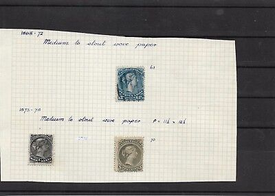 Canada large heads #61 and #62 min cat £190  (#8568a)