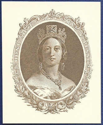 AMERICAN BANK NOTE Co. ENGRAVING: YOUNG QUEEN VICTORIA