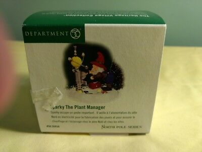 Dept 56 North Pole Accessory - Sparky The Plant Manager
