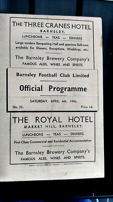 1945/6 Barnsley v Burnley. (6 April 1946)