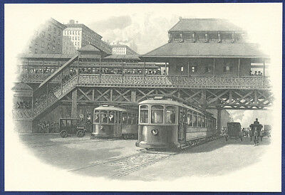 AMERICAN BANK NOTE Co. ENGRAVING: STREETCARS 53