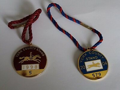 2 X Annual Members' Badges ~ York County Stand 1998 & 2004