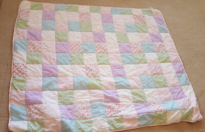 Laura Ashley Kids Girls Pink Clementine Flower/Patchwork Bedspread/Quilt