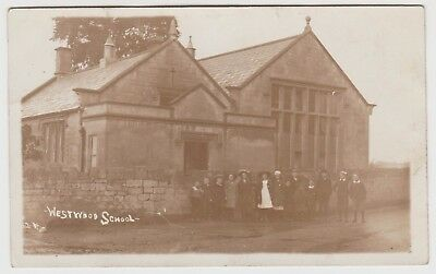 School Kids, Lower Westwood, Bradford-on-Avon: Old Real Photo PPC, G.Used 1914.