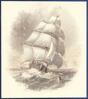 AMERICAN BANK NOTE Co. ENGRAVING: UNDER FULL SAIL