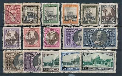 [108357] Vatican 1933 Good set Very Fine used stamps Value $140