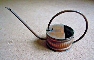 Vintage Small Copper Thin Spout  Watering Can,Decorative Finish