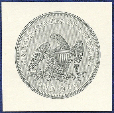 AMERICAN BANK NOTE Co. ENGRAVING: 207b SEATED DOLLAR REVERSE