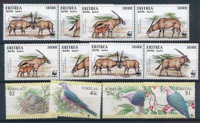 [3644] World birds fauna good set very fine MNH stamps