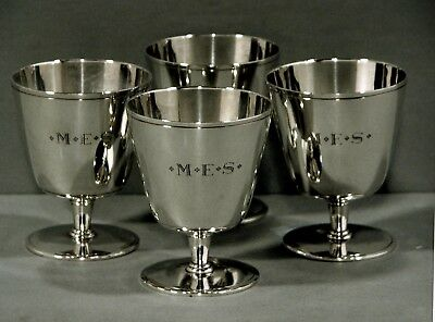 Tiffany Sterling Silver Goblets         *MATCHING SET OF FOUR*          c1929