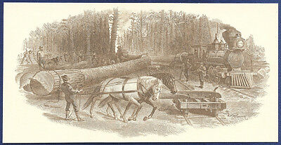 AMERICAN BANK NOTE Co. ENGRAVING: LOGGING 47