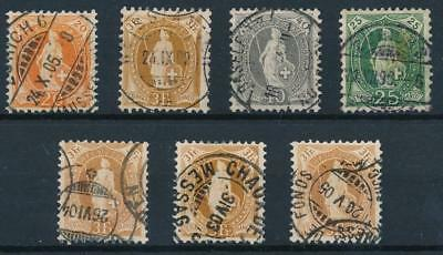 [38012] Switzerland Good lot of Very Fine used stamps