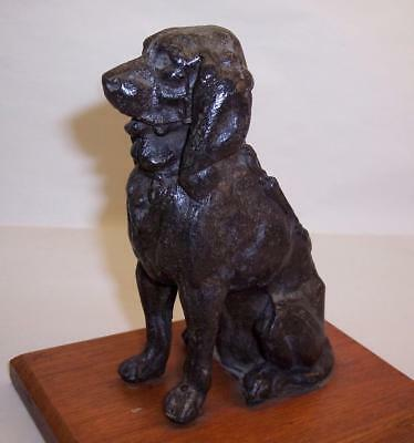 "Antique/Vintage ART DECO Metal SPELTER GUN DOG/Hound FIGURE/Sculpture 4.75"" High"