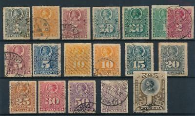 [38098] Chile 1877/99 Good lot of Very Fine used stamps
